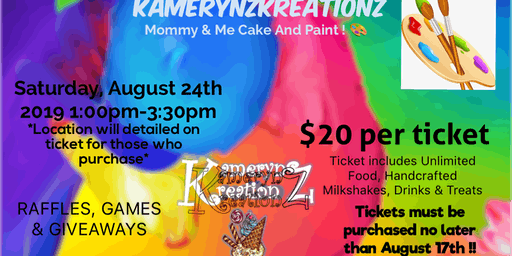 Kamerynz Kreationz Mommy and Me Cake & Paint