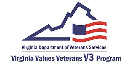 Virginia Values Veterans (V3) Employer Training Seminar - State Agency/Locality tickets