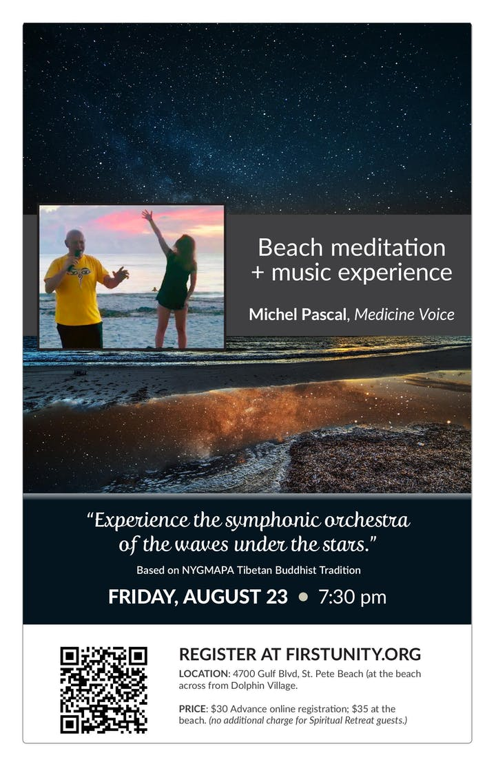 Sunset Beach Meditation + Music Experience with Michel Pascal