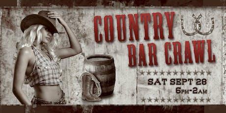 COUNTRY BAR CRAWL! - San Diego Gaslamp Sat Sept 28th tickets