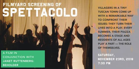 FilmYard screening of SPETTACOLO tickets