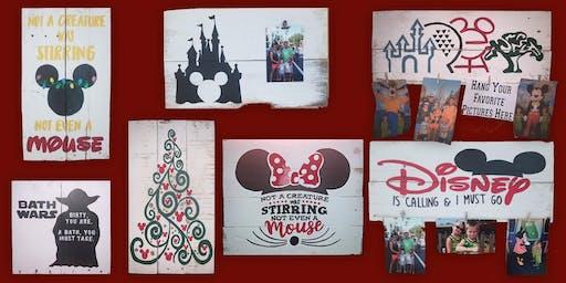 Disney Sign Painting at Springfield 9/21