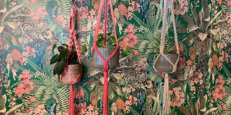 Macrame Plant Hanger Workshop with Grey Violet Weaving tickets