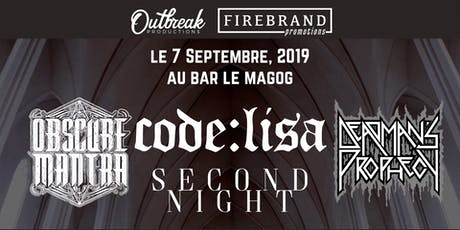 Obscure Mantra + Invité au Bar Le Magog billets
