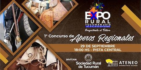 Primer Concurso de Aperos Regionales entradas
