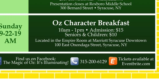 Oz Character Breakfast at the Marriott Syracuse Downtown