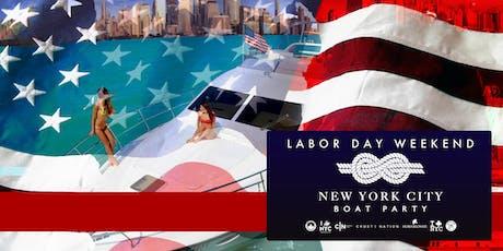 NYC #1 Yacht Cruise around Manhattan Boat Party - Labor Day Sunday tickets