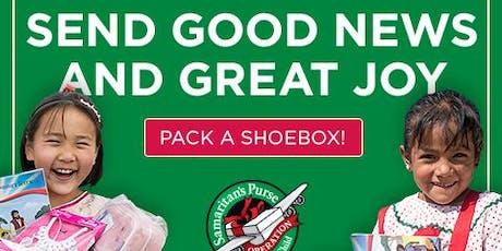 Shoebox Workshop & GO Box Distribution tickets