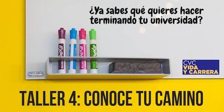 Taller 4: Conoce tu Camino - 23 Sep 19 boletos