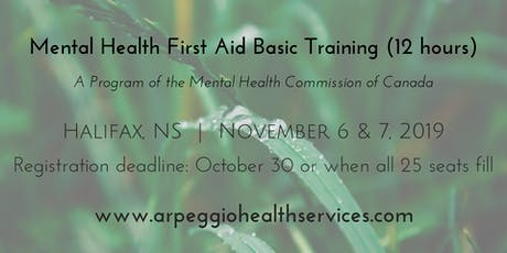 Mental Health First Aid Basic Training - Halifax, NS - Nov. 6 & 7, 2019 tickets