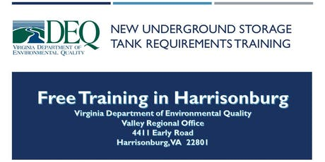 Underground Storage Tank Regulation Training - Harrisonburg tickets
