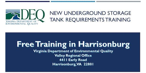 Underground Storage Tank Regulation Training - Harrisonburg