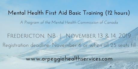 Mental Health First Aid Basic Training - Fredericton, NB - Nov. 13 & 14, 2019 tickets