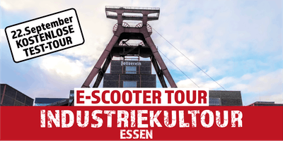 "Gratis E-Scooter Tour: ""Industriekultour"" Essen"