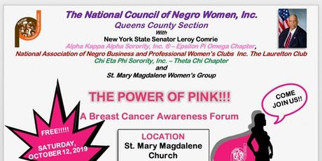NCNW, Inc. Queens County Section - A Breast Cancer Awareness Forum tickets
