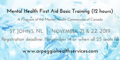 Mental Health First Aid Basic Training - St. John's, NL - Nov. 21 & 22, 2019 tickets