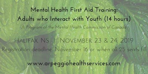 Mental Health First Aid Training: YOUTH - Halifax, NS - Nov. 23 & 24, 2019