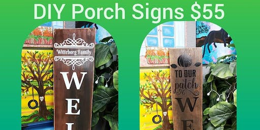 DIY 5ft Wood Porch Sign