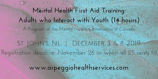 Mental Health First Aid Training: YOUTH - St. John's, NL - Dec. 3 & 4, 2019