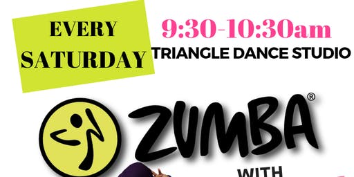 ZUMBA at Triangle Dance Studio - Every Saturday at 9:30am