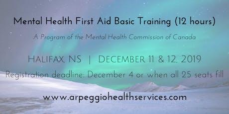 Mental Health First Aid Basic Training - Halifax, NS - Dec. 11 & 12, 2019 tickets