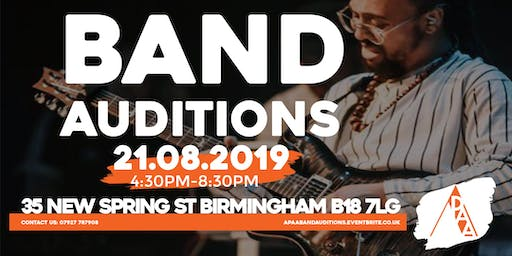 APAA: Band Auditions
