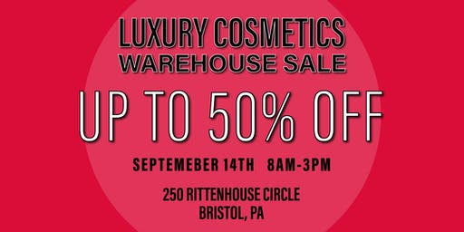 Special Invitation Warehouse Sale - BRISTOL, PA - SEPTEMBER 14, 2019