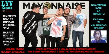 MAYONNAISE 17th Anniversary LIVE in Toronto with Kim Trinidad of Loop tickets