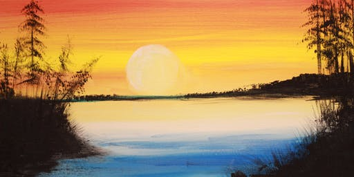 Chill & Paint Night @ Auckland City Hotel  -  Sunset at Muriwai