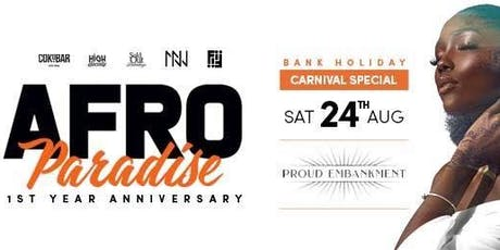 Afro Paradise 1st Year Anniversary Party!! tickets