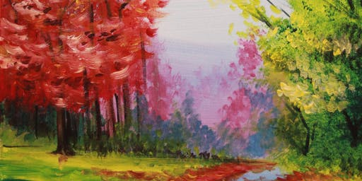 Chill & Paint Night @ Auckland City Hotel  -  Autumn Trees