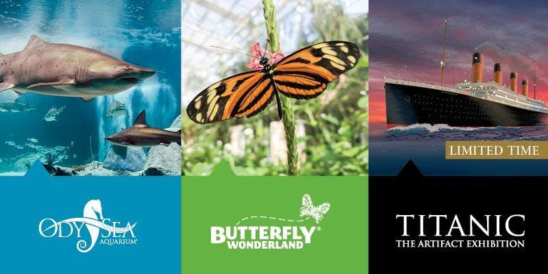 Educator Open House at OdySea Aquarium, Butterfly Wonderland, and Titanic