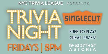 NYC Trivia League at SingleCut Beersmiths tickets