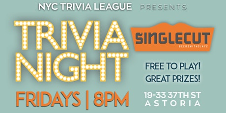 NYC Trivia League at SingleCut Beersmiths tickets