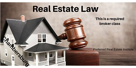 Broker Class-Real Estate Law - Required Class tickets