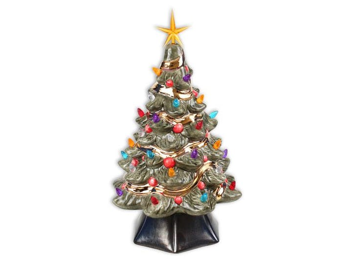 Ceramic Christmas Tree With Lights.Diy 14 Vintage Light Up Ceramic Christmas Tree