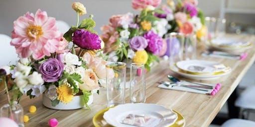 Wine & Design: End of Summer Floral Workshop with Jubilee Flower Co