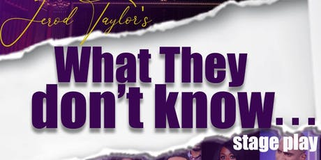 Jerod Taylor's What They Don't Know tickets