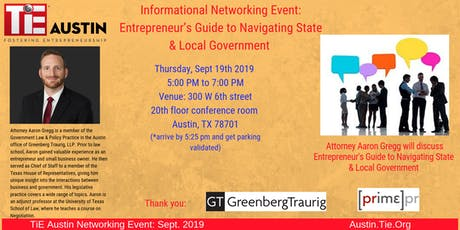 TiE Austin September Networking Event!! tickets