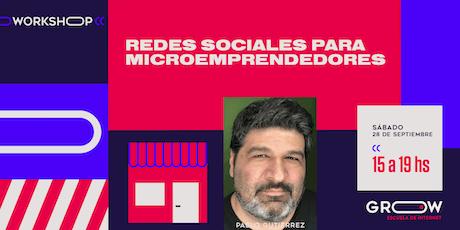 Workshop: Redes sociales para microemprendedores entradas