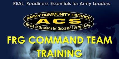 The R.E.A.L SFRG: Command Team Training tickets