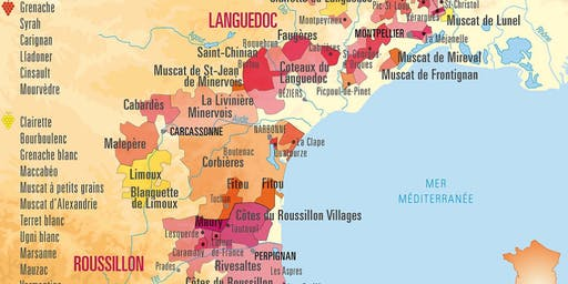 Wines of Languedoc Roussillon Master Class with Tanya Morning Star Darling, CWE, FWS
