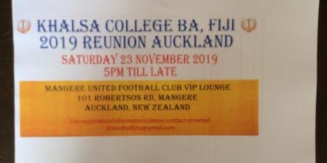 Khalsa College Ba Fiji 2019 Reunion New Zealand tickets