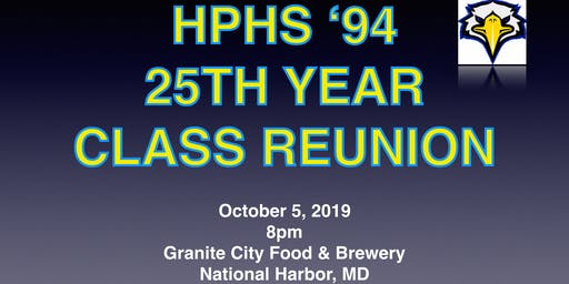 High Point High School Class of 1994 25th Year Reunion EARLY BIRD