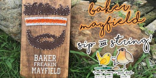 Baker Mayfield Sip & String Art Class