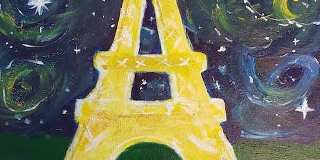 Brunch & Paint - Starry Paris Night tickets