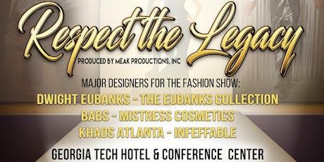 "Atlanta Black Pride presents ""Respect the Legacy"" Fashion Show tickets"