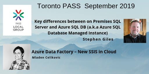 Toronto PASS Event - September 12th - Meeting Invitation and RSVP