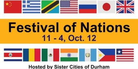 2nd Annual Festival of Nations, Hosted by Sister Cities of Durham tickets