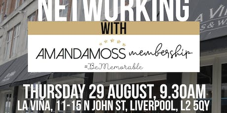 Networking with AmandamossPR - I can make you famous tickets
